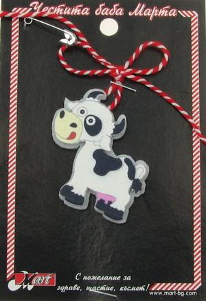 Μαρτάκι αγελάδα από τσόχα και ξύλο - 10 τεμάχια