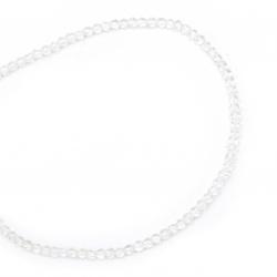 Наниз мъниста стъкло топче 4±4.5x3.5±4 мм дупка 0.8 мм прозрачно ±80 броя