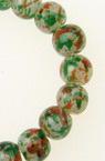 Наниз мъниста стъкло топче 6 мм дупка 1 мм прозрачно матирано многоцветно ~136 броя
