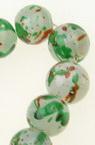 Naziz margele sticlă bila10 mm gaură 1 mm transparent mat multicolor ~ 82 bucăți