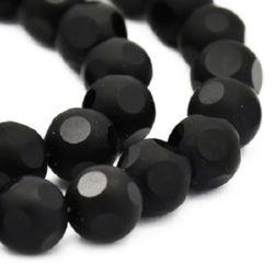 Matte glass beads 8 mm