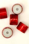 Perle de sticlă  cilindru 6 mm roșu -50 grame