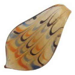 Pandantiv din sticlă de Murano 61x34 mm orificiu 10 mm realizat manual