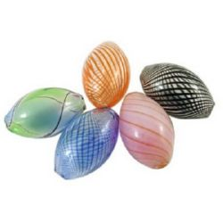 Coloured glass beads  12 x 20 mm - MIX
