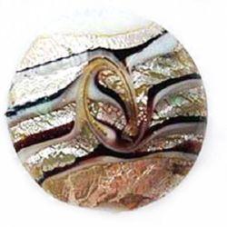 Мъниста стъкло Мурано паричка 20x10 мм дупка 2 мм -2 броя