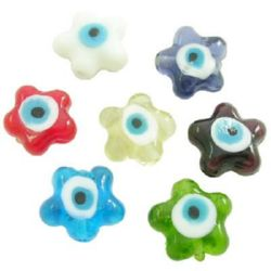Murano glass beads 15 x 9 mm - MIX