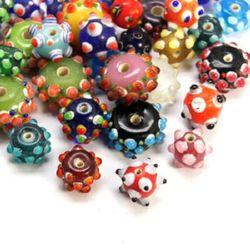 Murano glass beads  12~21x9~11 mm - MIX