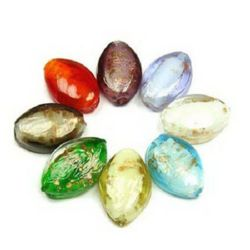 Glass beads 20 x 14 x 8 mm - MIX