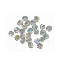 Margele cristal 4 mm gaură 1 mm imitație arc transparent Swarovski -24 bucăți