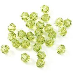 Perle de cristal de margele 6 mm gaură imitație 1,3 mm imitație galben Swarovski -12 bucăți