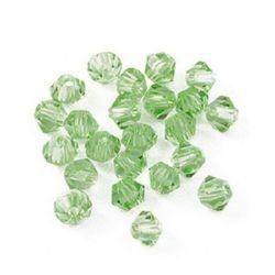 Margele cristal 6 mm gaură imitație 1,3 mm imitație verde Swarovski -12 bucăți