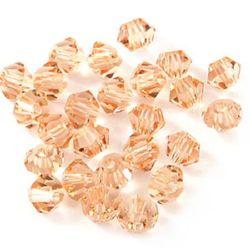 Mărgele Perle de cristal 8mm găuri 1,3 mm Imitație Swarovski Pink Rainbow -12 bucăți