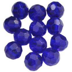 Наниз мъниста кристал многостенен 6 мм дупка 1 мм лилав -55 броя