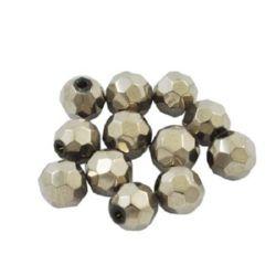 Sir de margele forma i Cristal multi-pereți 8mm găuri 1mm argint -43 bucăți