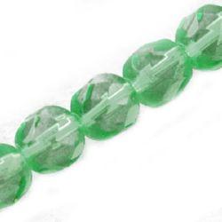 Наниз мъниста кристал многостенен 6 мм дупка 1 мм зелен -55 броя
