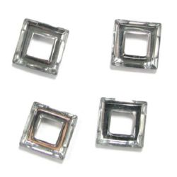 Κρεμαστό τετράγωνο κρύσταλλο 20Χ20Χ5mm Τρύπα 10mm