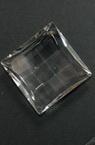 Висулка кристал квадрат 39x39x15 мм дупка 1.5 мм