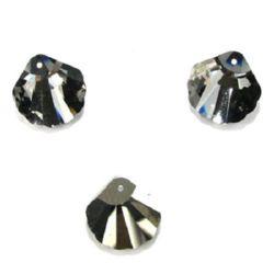 Pandantiv carcasă de cristal 29x29x9 mm gaură 1,5 mm