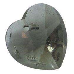 Висулка кристал сърце 10x10x5.6 мм дупка 0.9 мм