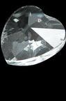 Висулка кристал сърце 22x22x11.6 мм дупка 1 мм