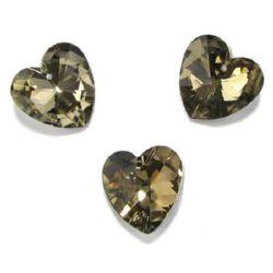 Висулка кристал сърце 28X28X13 мм дупка 1.5 мм