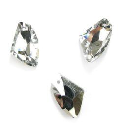 Висулка кристал триъгълник 23X37X12 мм мм дупка 2 мм
