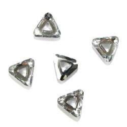 Τρίγωνο γυάλινο κρεμαστό 30x27x8 mm τρύπα 9 mm