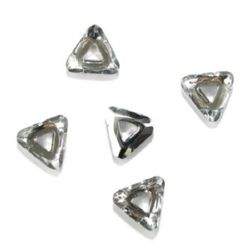 Triunghi de cristal pandantiv 30x27x8 mm gaură 9 mm