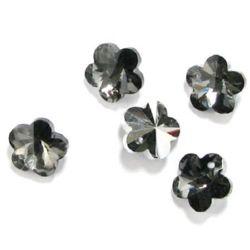 Floare de pandantiv de cristal 14x13.5x7,5 gaură 1 mm