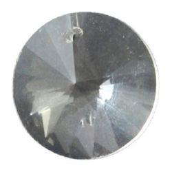 Κύκλος γυάλινο κρεμαστό 18x10 mm οπή 1,2 mm