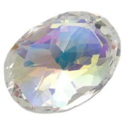 Висулка кристал овал 19x25.5x13 мм дупка 2 мм