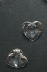 Висулка кристал сърце прозрачна 14x14x8 мм дупка 1 мм
