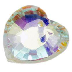 Висулка кристал сърце 18x18x6 мм дупка 2 мм