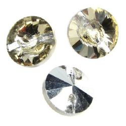 Κρεμαστό στρόγγυλο κρύσταλλο 14x5 mm τρύπα 1,5 mm -5 τεμάχια