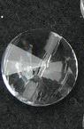Κύκλος γυάλινο κρεμαστό 14x5 mm τρύπα 1,5 mm -5 τεμάχια