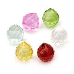 Висулка кристал фасетиран капка 21x24 мм дупка 2 мм АСОРТЕ цветове