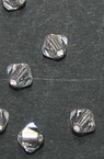 Мънисто Чешки кристал 4x3.6 мм цвят дупка 0.8 мм цвят прозрачно -12 броя