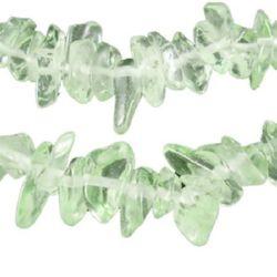 sir de margele  de sticlă cipuri 5-7 mm  verde deschis  ~ 80 cm