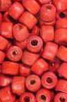 Margele cilindru de lemn 5x4 mm gaură 2 mm roșu -50 grame ~ 1160 bucăți
