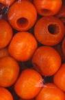 Στρόγγυλες ξύλινες χάντρες 9x10 ~ 11mm τρύπα 4 ~ 5mm πορτοκαλί -50 γραμμάρια ~ 150 τεμάχια