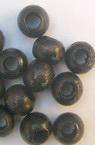 Wood beads, Round, black, 7x9mm, hole 4mm, 50 grams