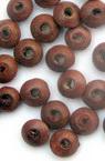 Мънисто дърво диск 8x4 мм дупка 3 мм кафяво светъло -50 грама ~ 600 броя
