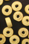 Wooden washer beads 8x4 mm hole 3 mm wood color - 50 grams ~ 520 pieces