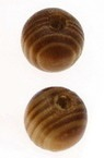 Мънисто дърво топче 10 мм дупка 3 мм кафяво -50 броя