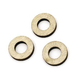 Wooden washer beads 20x3 mm hole 10 mm color wood - 20 pieces