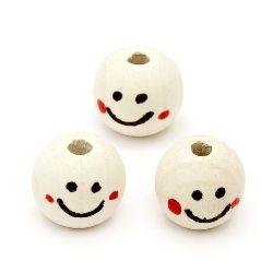 Wooden beads smile 16 х 18 mm