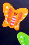 Margele din lemn forma fluture 18x24x5 mm pictat MIX -20 g 25 buc