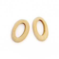 Natural Unfinished Wooden Bead, Ring, for DIY Jewelry and Crafts 28x18x5 mm hole 18 mm - 5 pieces