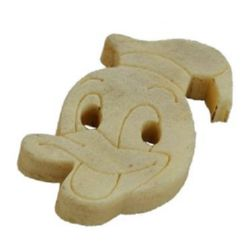 Duck Donald wooden button 13x21x4 mm hole 2 mm - 20 pieces