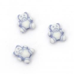 Χάντρα αρκουδάκι 9x8x4.5mm τρύπα 2mm Μπλε -50 γραμμάρια ~ 230 τεμάχια